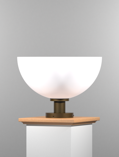 San Antonio Series Pedestal Mount Church Lighting Fixture in Duranodic 313 Finish