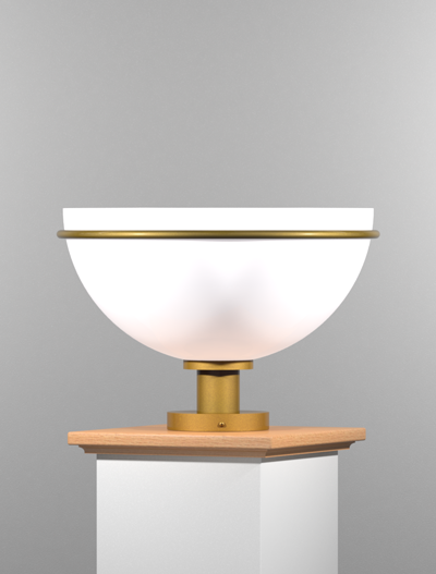 Sacramento Series Pedestal Mount Church Lighting Fixture in California Gold Finish