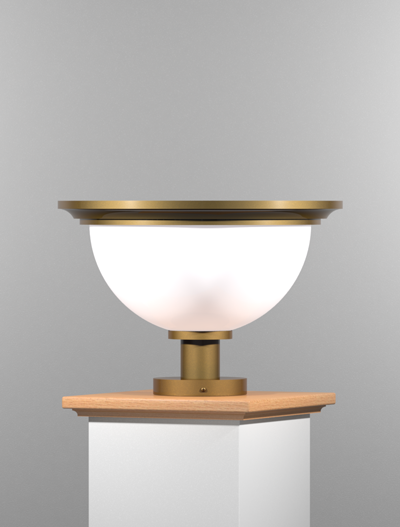 San Francisco Series Pedestal Mount Church Lighting Fixture in Roman Gold Finish