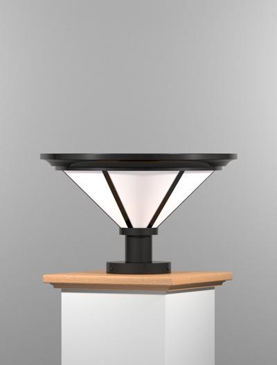 Spokane Series Pedestal Mount Church Lighting Fixture in Semi Gloss Black Finish