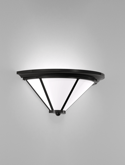 Spokane Series Wall Sconce Church Lighting Fixture in Semi Gloss Black Finish