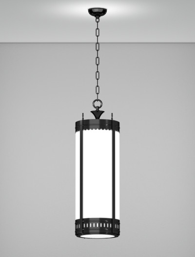 Savannah Series Pendant Church Lighting Fixture in Semi Gloss Black Finish