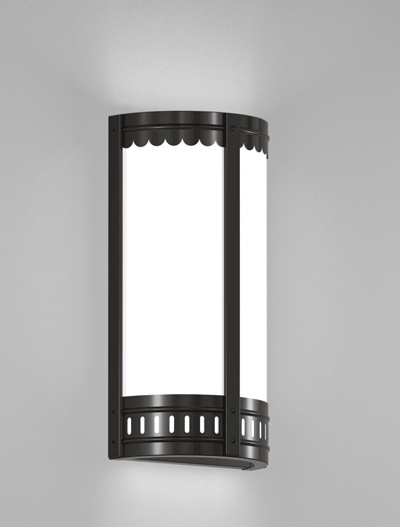 Savannah Series Wall Sconce Church Lighting Fixture in Semi Gloss Black Finish
