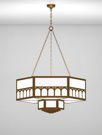 Taos Series 2-Tier Large Pendant Church Lighting Fixture in Nu Bronze Finish