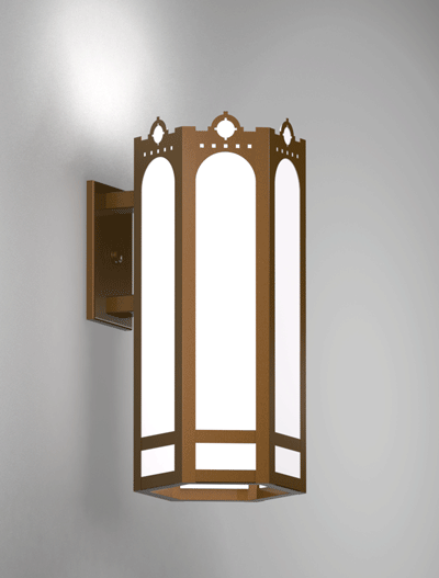 Taos Series Wall Bracket Church Lighting Fixture in Nu Bronze Finish