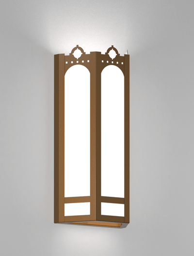 Taos Series Wall Sconce Church Lighting Fixture in Nu Bronze Finish
