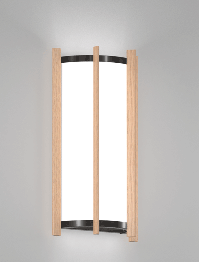 Winston Series Wall Sconce Church Lighting Fixture in Semi Gloss Black Finish