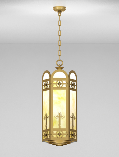 Custom Series  Church Lighting Fixture in Roman Gold Finish