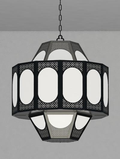 Custom Series  Church Lighting Fixture in Semi-Gloss Black Finish