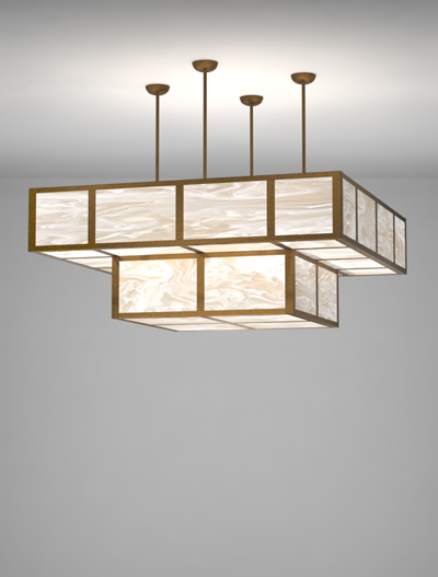 Custom Series  Church Lighting Fixture in Antique Gold Finish