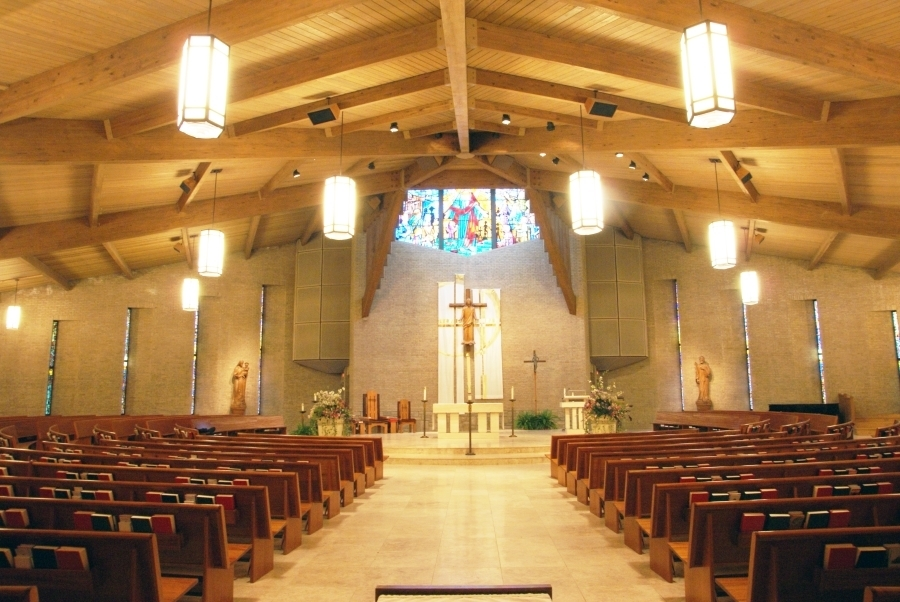 All Saints Catholic Church Lighting by Craft Metal Products