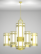 Dover Series 6-Arm Satellite Pendant Church Light Fixture