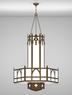 Easton Series 3-Tier Large Pendant Church Light Fixture