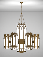 Easton Series 6-Arm Satellite Pendant Church Light Fixture
