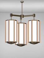 Hampton Series 3-Arm Cluster Pendant Church Light Fixture