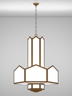 Hammond Series 3-Tier Large Pendant Church Light Fixture