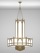 Hartford Series 3-Tier Large Pendant Church Light Fixture