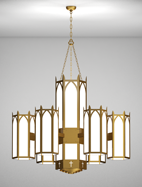 Hartford Series 6-Arm Satellite Pendant Church Light Fixture