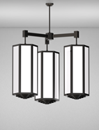 Houston Series 3-Arm Cluster Pendant Church Light Fixture