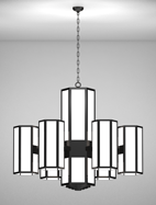 Church Lighting Houston Series 6-arm Satellite Pendant
