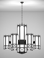 Jamestown Series 6-Arm Satellite Pendant Church Light Fixture