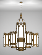 Lafayette Series 6-Arm Satellite Pendant Church Light Fixture