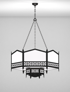 Oxford Series 2-Tier Large Pendant Church Light Fixture