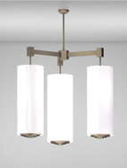 Pasadena Series 3-Arm Cluster Pendant Church Light Fixture