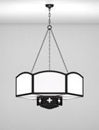 Randolph Series 2-Tier Large Pendant Church Light Fixture