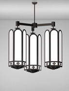 Randolph Series 3-Arm Cluster Pendant Church Light Fixture