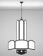 Randolph Series 3-Tier Large Pendant Church Light Fixture