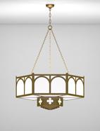 Roselle Series 2-Tier Large Pendant Church Light Fixture