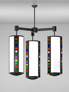 Rockford Series 3-Arm Cluster Pendant Church Light Fixture