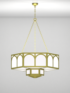 Raleigh Series 2-Tier Large Pendant Church Light Fixture