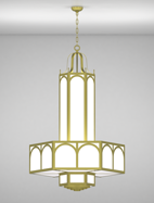 Raleigh Series 3-Tier Large Pendant Church Light Fixture