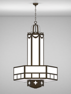 Richmond Series 3-Tier Large Pendant Church Light Fixture