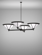 Spokane Series 4-Arm Cluster Pendant Church Light Fixture