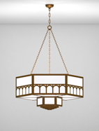 Taos Series 2-Tier Large Pendant Church Light Fixture