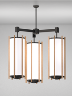 Winston Series 3-Arm Cluster Pendant Church Light Fixture
