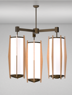Wichita Series 3-Arm Cluster Pendant Church Light Fixture